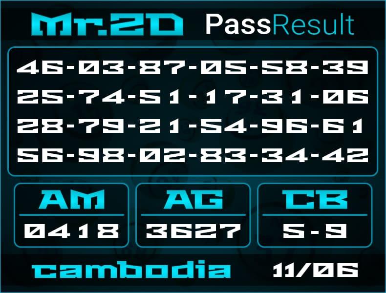 Mr.2D - Bocoran Togel Cambodia