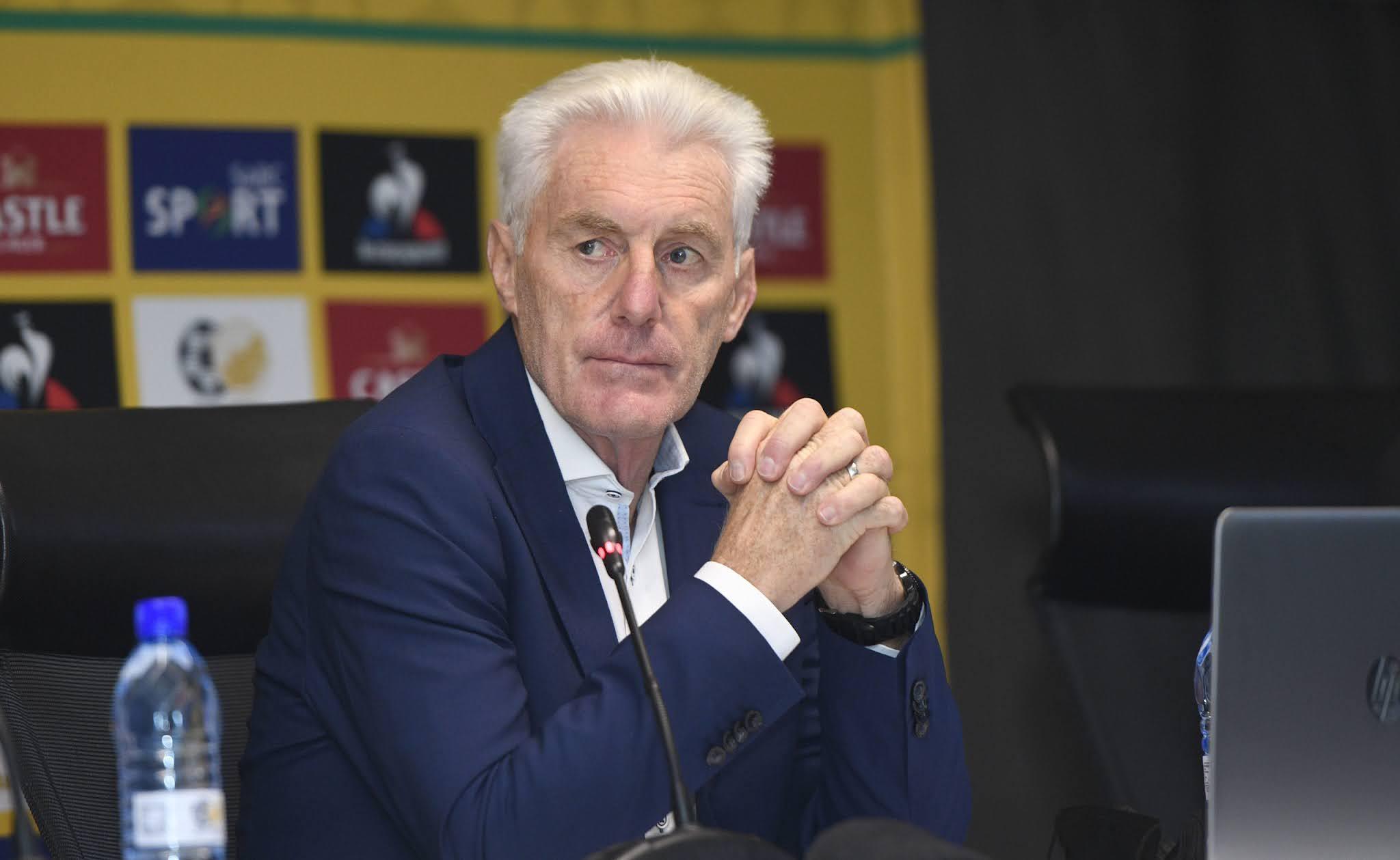 South Africa's head coach Hugo Broos