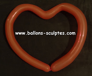 coeur simple en ballon