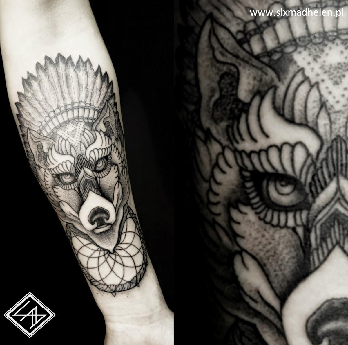 Six Mad Helen Tattoo Piercing Poznań Tatuaże Michał