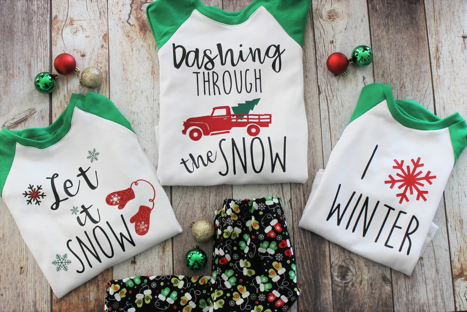 e19da4550c ... little something so I designed these festive Christmas SVG files for  Cricut. Today I wanted to show you how EASY it is to customize your  Christmas pjs.