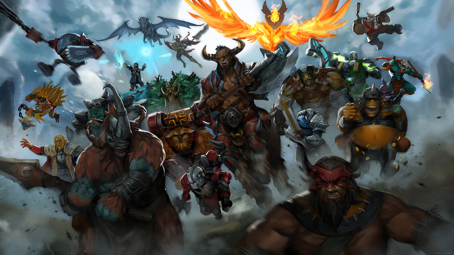 Dota 2 Epic Heroes Wallpaper HD