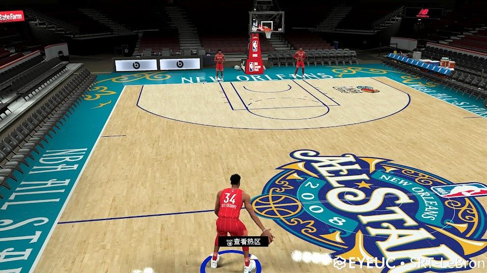 NBA 2K21 2008 All star court srt-Lebron [FOR 2K21]