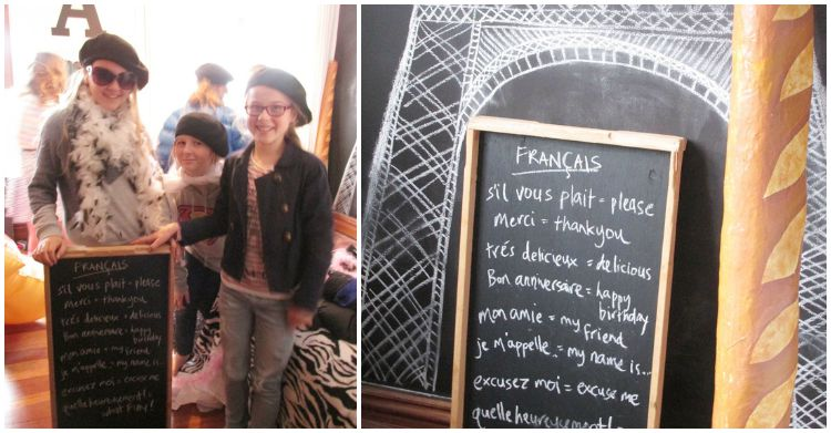 Paris Party - french lesson!
