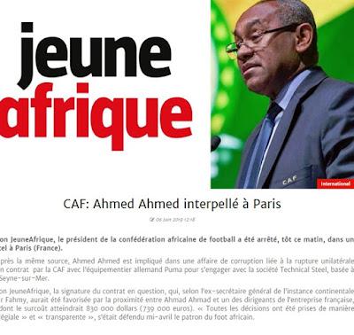 عاجل| القبض على رئيس الكاف أحمد أحمد في باريس