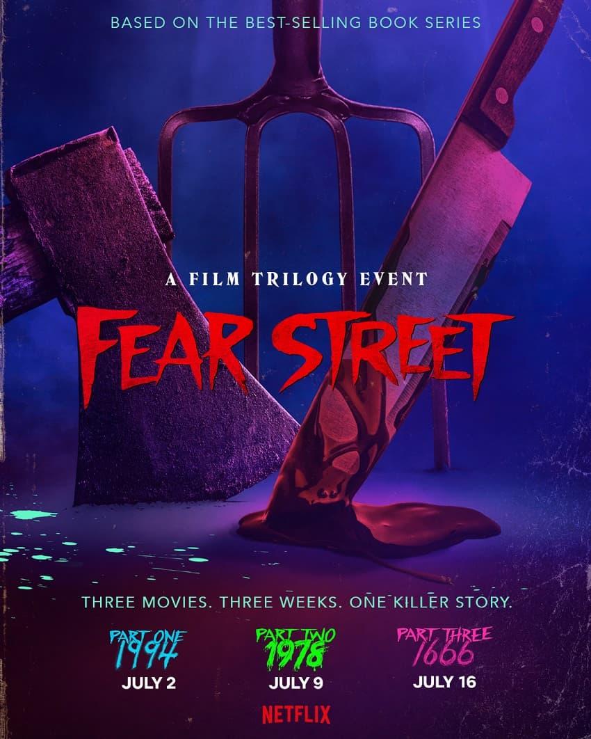 Netflix показал трейлер трилогии хорроров «Улица страха» по книгам Р. Л. Стайна - Постер