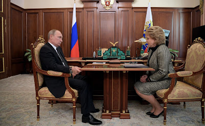 President Putin with Federation Council Speaker Valentina Matviyenko.