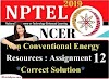 Non-Conventional Energy Resources - NPTEL Assignment 12 Answers