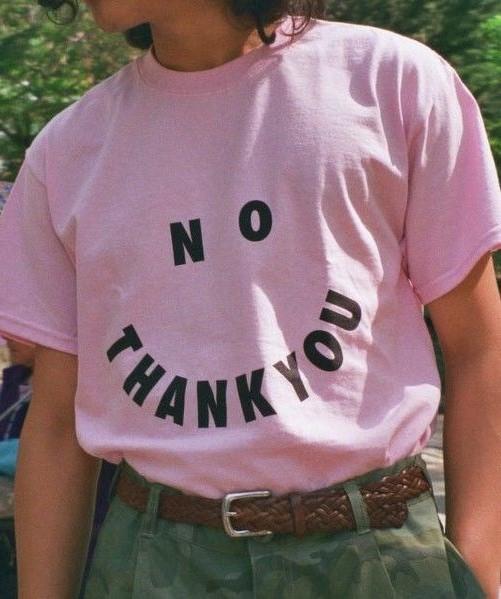 'No Thank You' T-Shirt.  PYGear.com