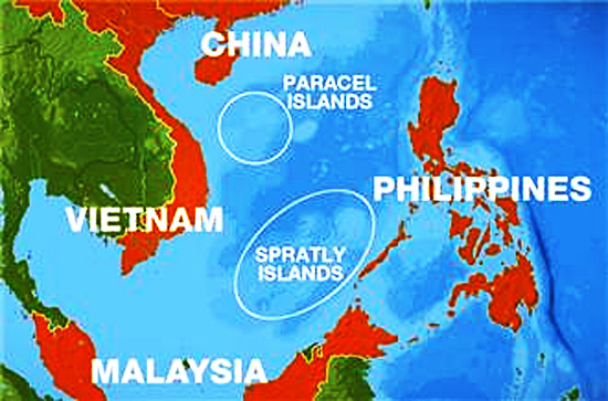 Ilhas Spratly - Mapa