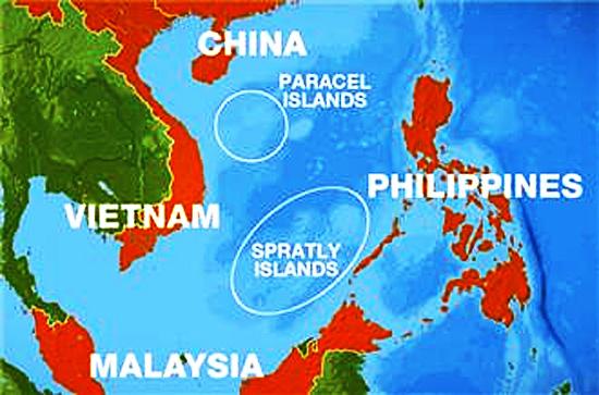Ilhas Spratly - Mapa