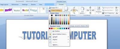 Cara Membuat Tulisan Efek Cermin Di Microsoft Word
