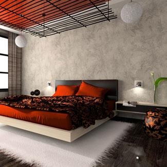 modern orange bedroom design ideas | modern house: Images of modern orange bedroom decoration ideas
