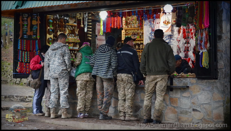 Торговля на озере Синевир 2016