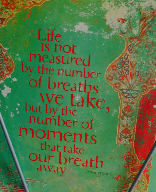 Life Is Not Measured By The Breaths Quote: A Spoon Full Of Sugar: Moments That Take Our Breath Away