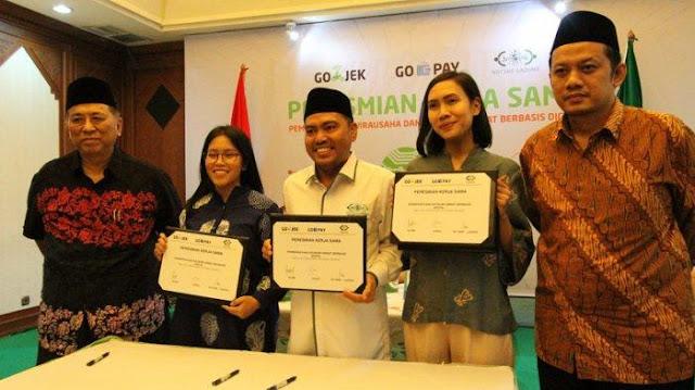 Gojek dan Go-Pay Gandeng PBNU untuk Permudah Layanan Sedekah Digital
