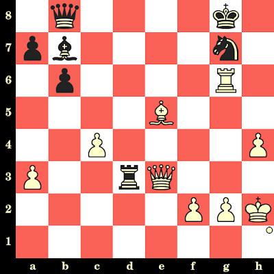 Les Blancs jouent et matent en 4 coups - Ridha Belkadi vs Rijd, Varna, 1962