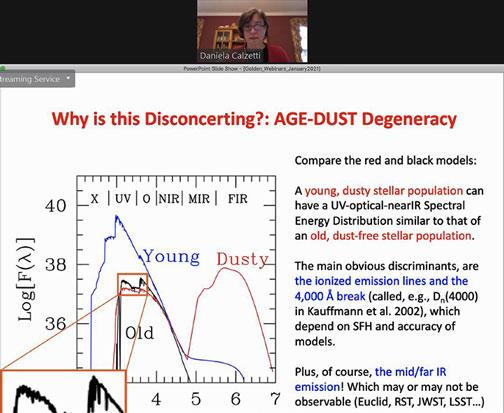 Need to adjust for dusty measurements (Source: Daniela Calzetti, Golden Webinar, http://astro.uc.cl/en)