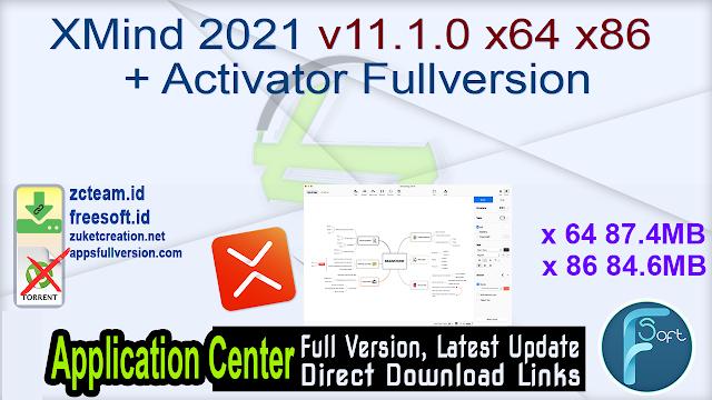 XMind 2021 v11.1.0 x64 x86 + Activator Fullversion