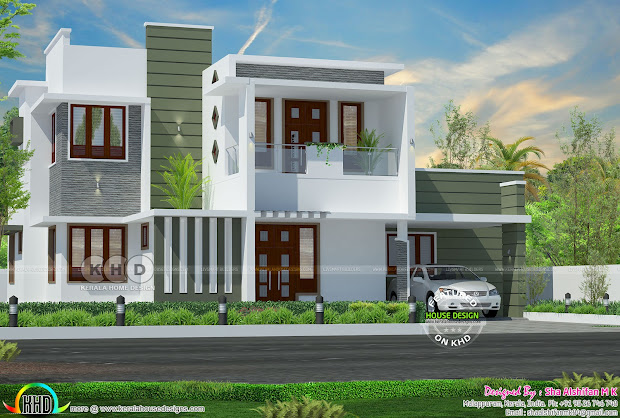2545 Square Feet Contemporary 4 Bedroom Home - Kerala