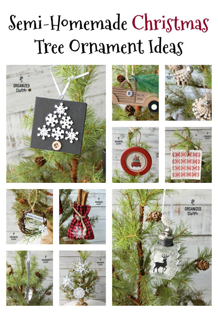 Semi-Homemade DIY Christmas Tree Ornaments