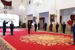Jokowi Lantik Bahlil Lahadalia Sebagai Meninves dan Nadiem Makarim Sebagai Mendikbud-Ristek