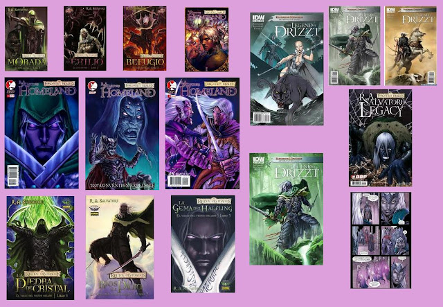 portadas de cómics de El elfo oscuro
