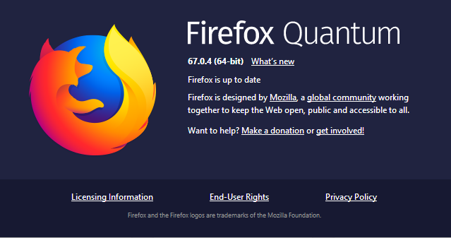 - Firefox 2B 2B67 - Firefox 67.0.4 Released – Mozilla Fixed Second Zero-day within a Week