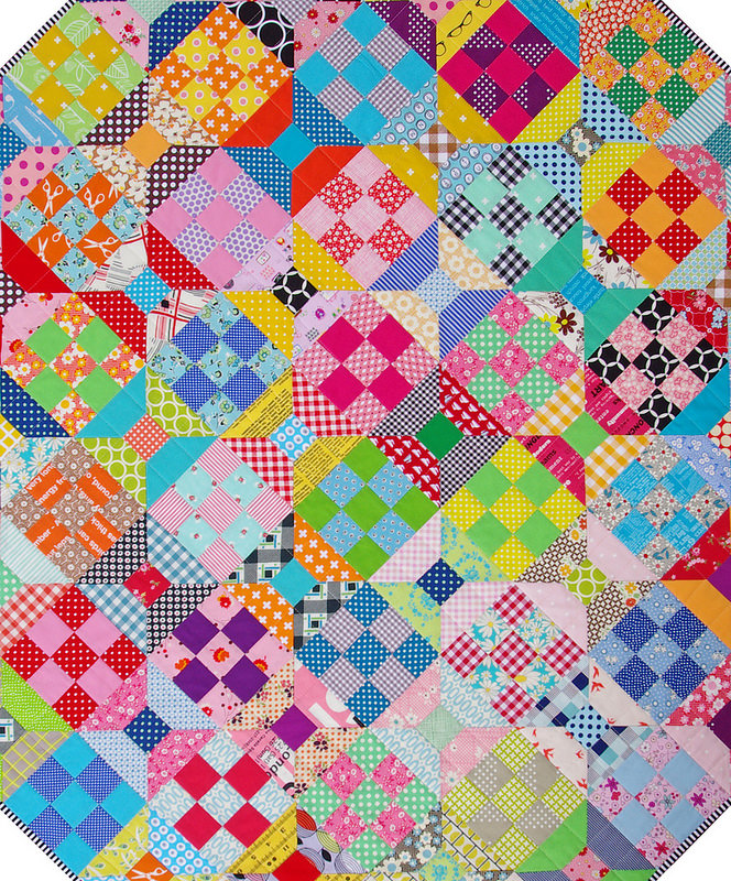 Spools and Nine Patch Quilt | Red Pepper Quilts