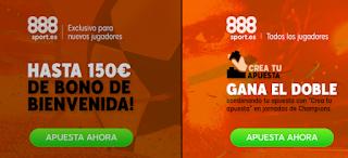 888sport promocion bienvenida + para todos cuartos final champions