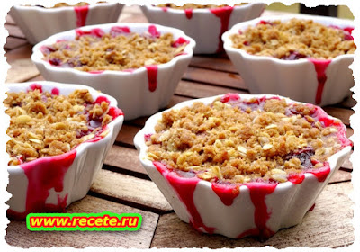 Berry Crumble with Custard