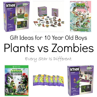Plants vs Zombies gift ideas for 10 year old boys.