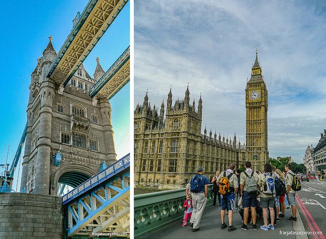 Londres: Tower Bridge e Big Ben