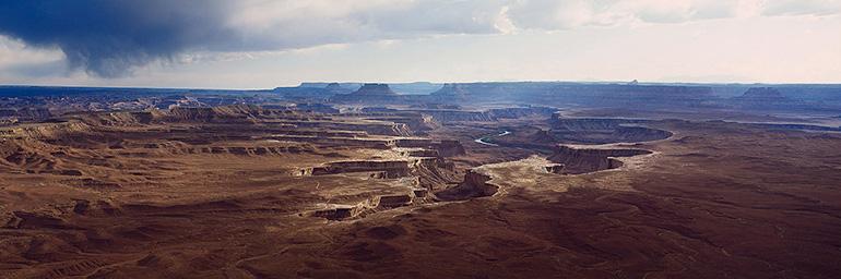 Photo panoramique de Christophe Daguet du Grand Canyon où fut tournée la scène finale de Thelma et Louise