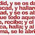 Mateo 7:7-8