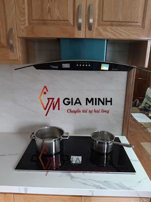 Combo Bếp từ Arber AB 670 - Máy hút mùi Canzy CZ 3670 tại nhà chị Hà (Thanh Xuân - HN)