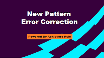 New Pattern Error Correction for IBPS Bank Exams