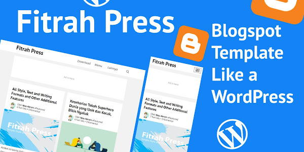 Fitrah Press - Blogger Template Free Super Simple Ala Generate Press