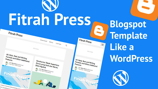 Fitrah Press - Blogger Template Free Super Simple Ala Generate Press