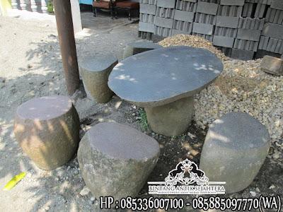 Meja Taman Batu Alam, Meja Taman Minimalis, Kerajinan Marmer Tulungagung