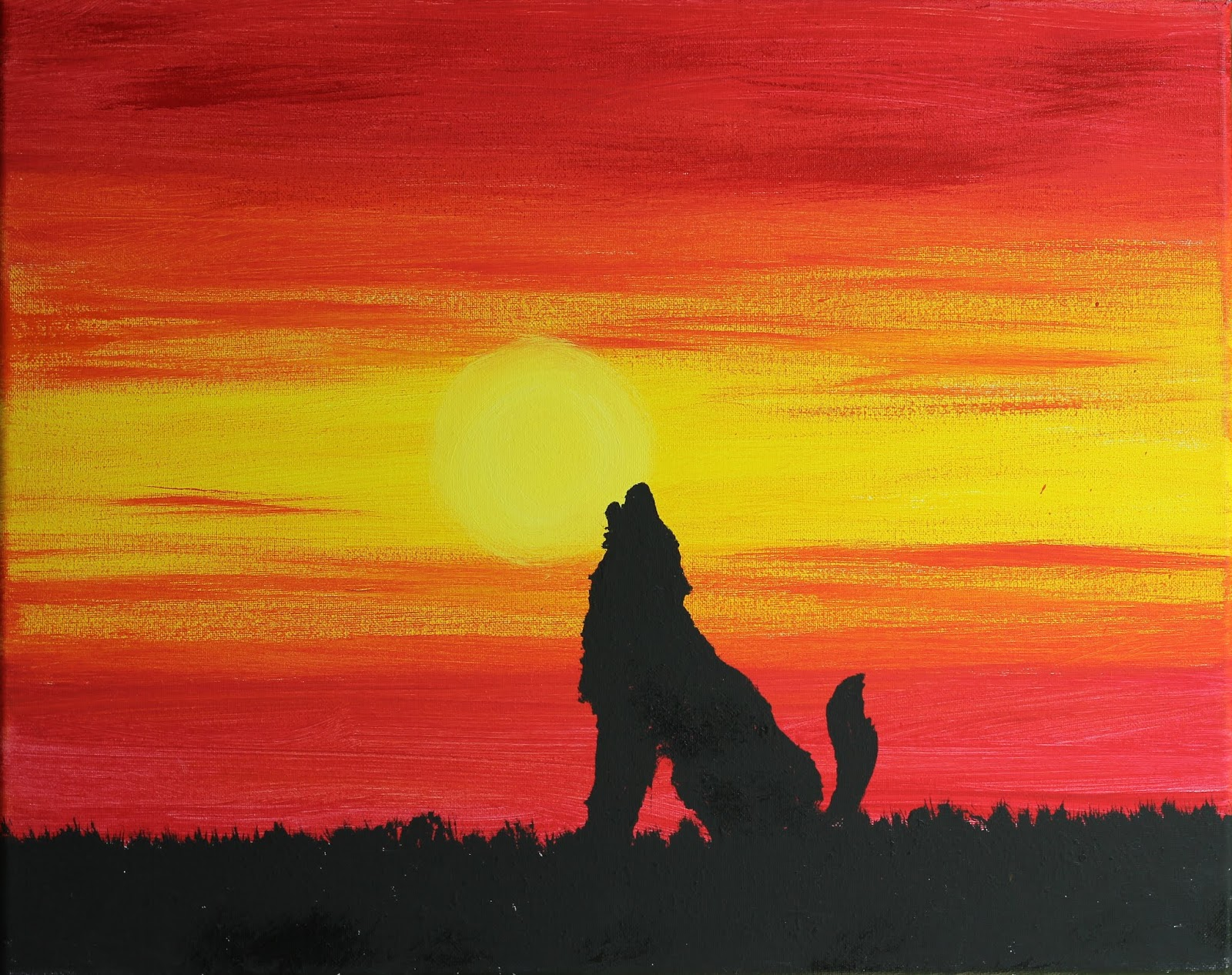 Word Weaver Art Animals In Silhouette At Sunset Kid Project