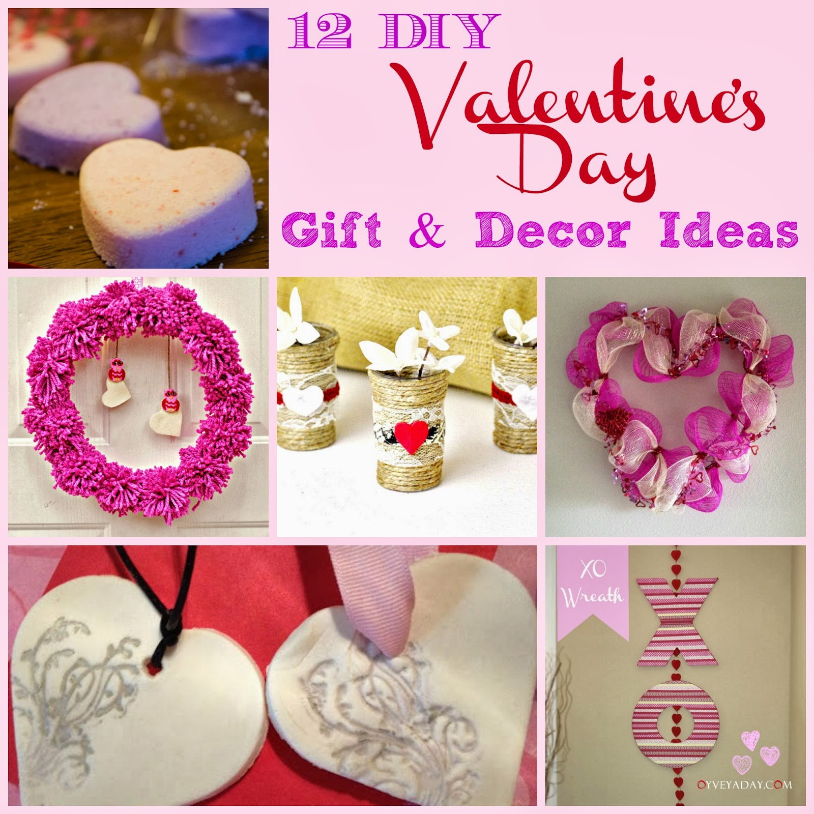 12 DIY Valentine's Day Gift & Decor Ideas