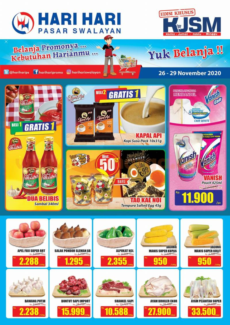 Katalog Promo JSM Hari Hari Swalayan Weekend 26 - 29 November 2020 1