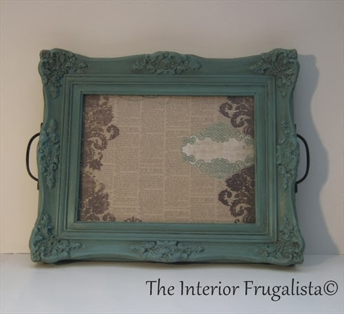 Ornate picture frame turned into a tray