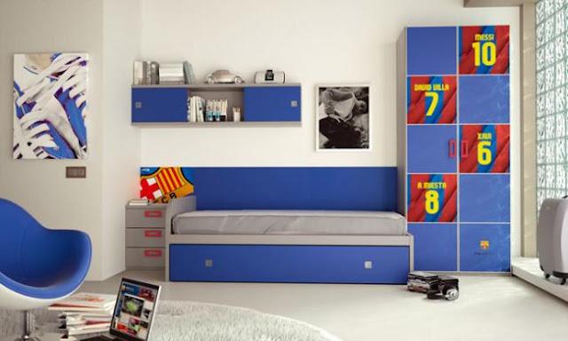 Dormitorios futbol club barcelona fcb by - Habitaciones infantiles barcelona ...