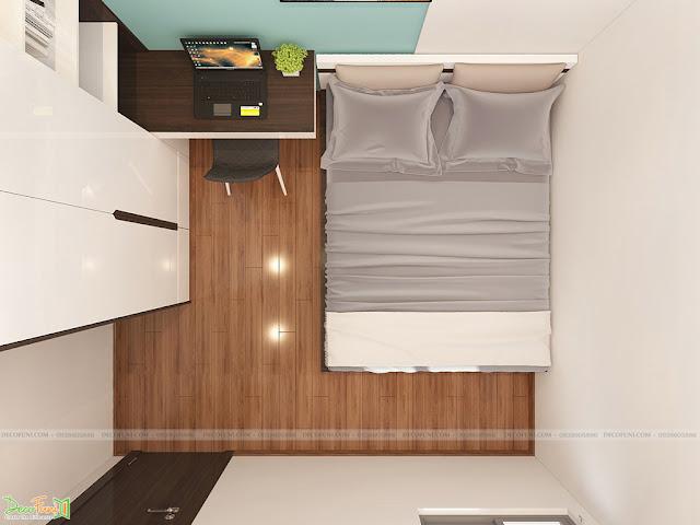 Nội thất phòng ngủ chung cư 65m2 - 2 phòng ngủ - 2