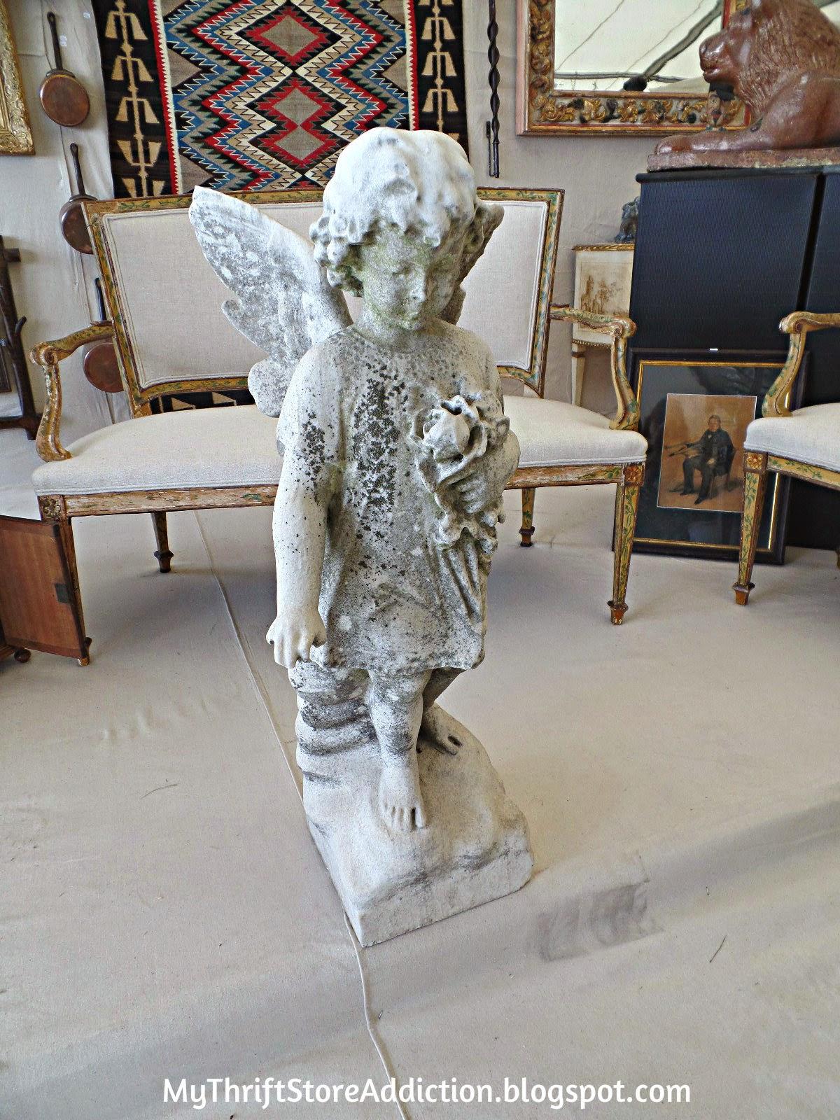 Vintage angel garden statue