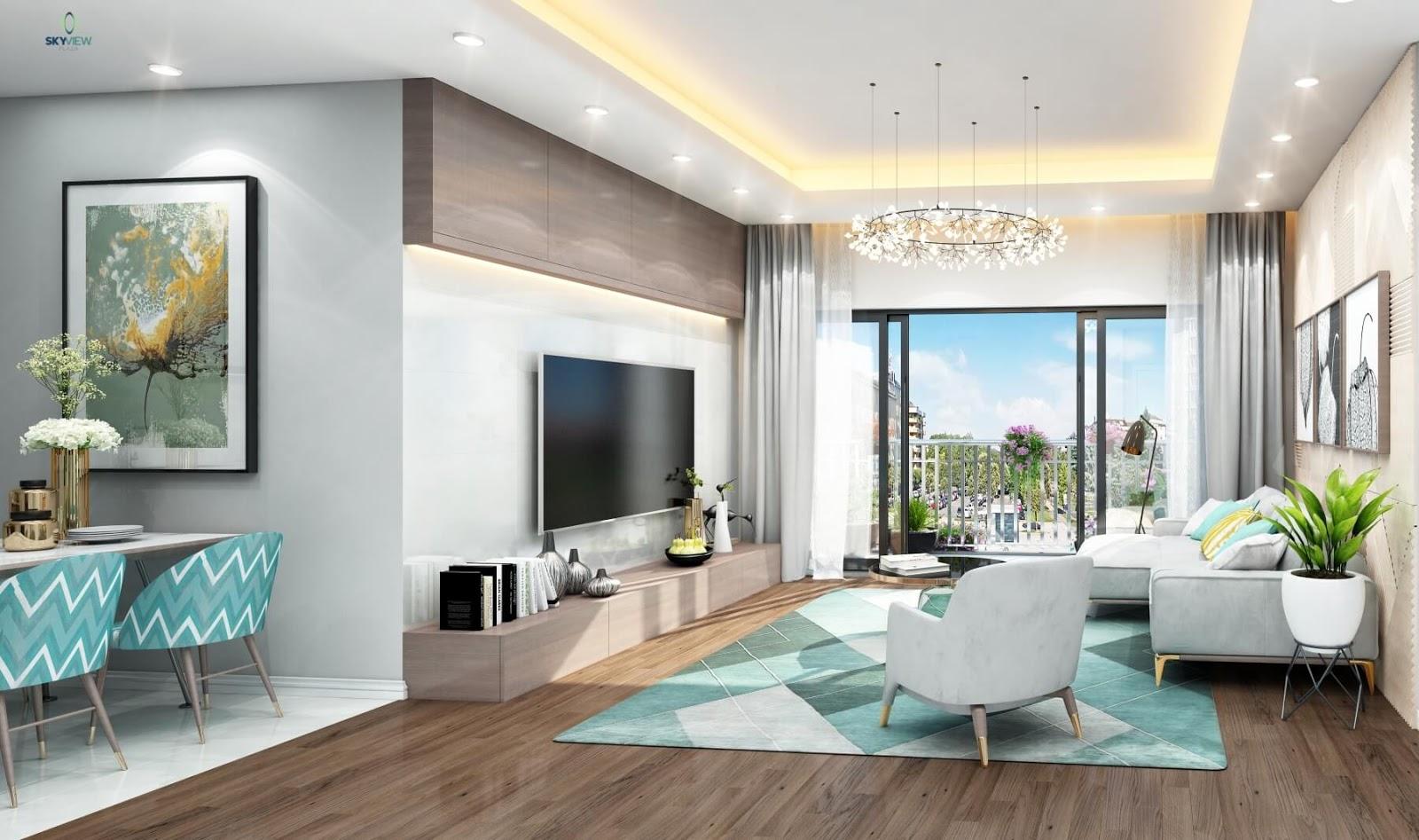 Thiết kế nội thất căn hộ Sky View Plaza Giải Phóng