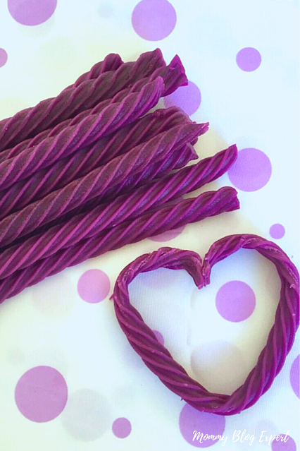 Grape Red Vines Licorice Candy Heart