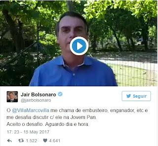 marco antonio villa-jornalista-jovem-pan-desafia-bolsonaro-ao-vivo